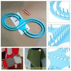 NEW Pink Blue Wide Afghan Loom Knitting Board Tool With 3 Projects For Sweater S