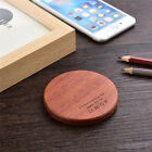 Bamboo Wooden Qi Wireless Charger Pad Mini Charging Mat Dock For iPhone X