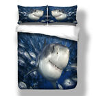 Sea Shark Twin/Queen/King Size Bed Duvet/Quilt Cover Set Pillow Case Whale New
