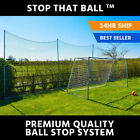 Soccer Ball Stop Netting System [Stop That Ball™] **Strong & Highly Durable**