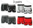3 Pairs Mens Seamless Boxer Shorts Trunks Briefs Wear If You Dare Underwear