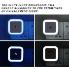 Mini LED Night Light Auto Light Sensor Control Bedside Bedroom Light Wall Lamp