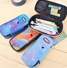 New Student Pencil Pen Case Cosmetic Pouch Pocket Brush Holder Makeup Box Bag