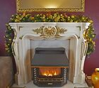 Pre Lit 1.8m Red Fireplace Luxury Christmas Garland 6ft Swag 40 Warm White Light