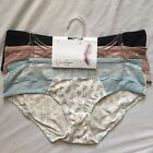 3 Pair Jessica Simpson Hipster Panties Gray, Brown, Blue, Red M Sexy Womens $36
