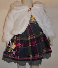 NEW Girl TinkerBell Winter Cardigan & Dress sets white Size 1,2,3,4,5,6