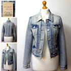 NEW LADIES DENIM JACKET WOMEN FALMER HERITAGE FITTED VINTAGE JEAN TOP COAT 8-20
