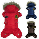 XS-XL Dog Puppy Pet Warm Hooded Coat Thick Apparel Winter Puffer Jacket Clothes