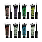 PaintGlow Glitter Eyeliner Fluorescent Colours Festival Party Rave Club 15ml