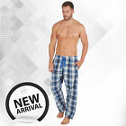 Men's Woven Lounge Bed Pants Pyjama Bottoms Checked Trousers Twill PJ S-XXL <br/> Cotton Blend Comfortable Elasticated Waist Nightwear
