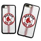 Boston Red Sox Baseball TPU Case Cover For iPhone 8 Plus X Samsung Note Galaxy