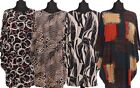 NEW ITALIAN OVERSIZED PRINT FLORAL/ABSTRACT PATTERN BATWING TUNIC DRESS PLUS SZ