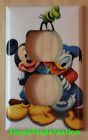 Mickey mouse Donald Duck Goofy Pluto Switch Duplex Outlet Cover Plate Home decor