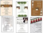 100 Wedding Party Invitation Picture Card Printed in Color, customize Envelopes