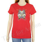 Sugar Skulls Skeleton Roses Flower Graphic T Shirt