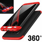 360 Full Cover Shockproof Case For Galaxy S7 Edge S8 Hybrid Hard Plastic O0069