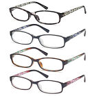 GAMMA RAY 3 Pairs of Thin Women's Reading Glasses Readers w/ Magnification