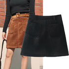 European Station 2018 Spring High Waisted Velvet Skirt With Belt-HS266