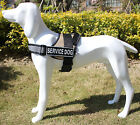 Reflective Service Dog Vest Harness W/ Removable Info card Patches Optional