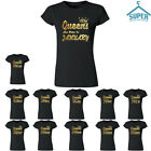 New GOLD Queens Are Born In 12 MONTHS TSHIRT Birthday Party Tee Shirt You