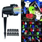 Outdoor Christmas Projector Lights Rotating Led Waterproof Snowflake Spotlight