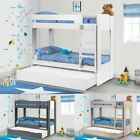 Ellie Wood Bunk Bed and Storage Drawer 3ft Single 4 Mattress, 3 Colour Options