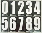 2 x White numbers on Black background -Iame-X30 Rotax Cadet Karting Race Numbers