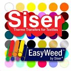 "SISER EasyWeed Heat Transfer Vinyl Tshirt /Textile Thin HTV 12"" x 60"" (5ft)sheet"