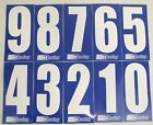 4 x White numbers on Blue background -Iame-X30 Rotax Cadet Karting Race Numbers