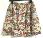 Cath Kidston Seaside Design Lined Cotton Button Front Flared Skirt 10 - 16