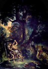 Jacob Wrestling the Angel by Delacroix (fine art print)