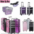 Pro Rolling Makeup Cosmetic Train Case Wheeled Trolley Hairdressing Salon Box