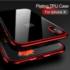 COVER CUSTODIA in TPU ORIGINALE ELECTROPLATING ULTRA SLIM MORBIDA per IPHONE X
