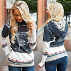 Christmas Women Lady Hoodie Sweatshirt Jumper Sweater Pullover Tops Coat Winter