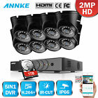 SANNCE 1080P HDMI 5in1 8CH DVR 1500TVL IR Home Security Camera System 1TB APP