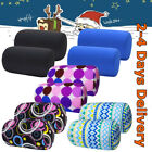 2 Microbead Bolster Tube Pillow Travel Leg Neck Waist Pillow Office Sofa Cushion