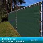 Ifenceview 4'x3'-4'x50' Green UV Fence Privacy Screen Mesh Fabric Garden Outdoor