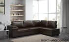 Collingwood Corner Brown Leather Sofa in Right or Left Hand Side