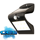 BG Luceco Solar Guardian Outdoor Wall Light With PIR sensor Black or White