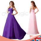 One Shoulder New Formal Long Evening Gown Party Prom Bridesmaid Dress UK 8-16