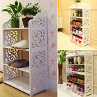 3 4 Tiers Shoe Rack Stand Storage Stand Cabinet Organiser Shelf Home Wood USA