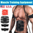 Abdomen+Arm Muscle Stimulator EMS Training Electrical Body Shape Trainer ABS Set image