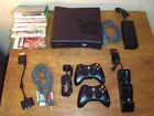 Xbox 360 console black 360s 1439 HDMI X-box system & 8 games extras lot working
