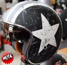 Casco Custom ORIGINE REBEL STAR GREY OPACO - Moto Vintage Bandit America Harley