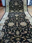 Clearance Hall Runners Heritage Black Allover Soft Feel Pile 80cm Wide End of Ro
