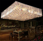 Modern Luxury LED Crystal Square Pendant Light Ceiling lamp Chandelier Lighting