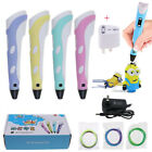 3D Stereoscopic Doodler Printing Pen LCD 2nd Gneration+3 Free Filaments in Box