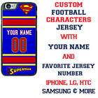 Custom Superman Superhero Personalized Jersey Phone Case for iPhone Samsung Gift