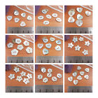 10 x MOTHER OF PEARL SHELL BUTTONS STAR HEART FLOWER OVAL SEW ON HABERDASHERY