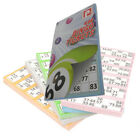 450 BINGO TICKETS PAD - BOLD NUMBERS - 6 TICKETS PER PAGE VARIOUS COLOUR BOOKS